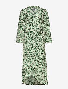Printed Crepe - slå-om-kjoler - tapioca