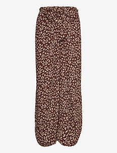 Printed Crepe - midi skirts - decadent chocolate