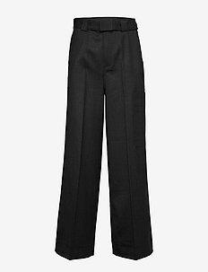 Light Wool - spodnie szerokie - phantom
