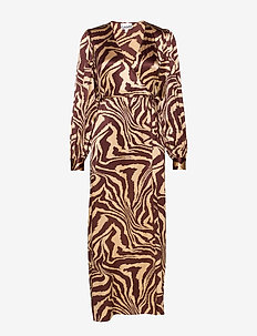 Silk Stretch Satin - wrap dresses - tannin