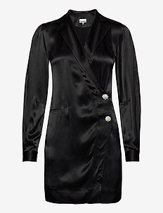 Heavy Satin - slå-om-kjoler - black