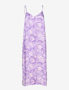 Heavy Satin - midi kjoler - violet tulip