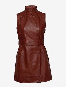 Lamb Leather - slå-om-kjoler - decadent chocolate