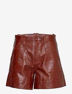 Lamb Leather - skinn shorts - decadent chocolate