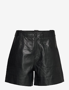 Lamb Leather - skinn shorts - phantom