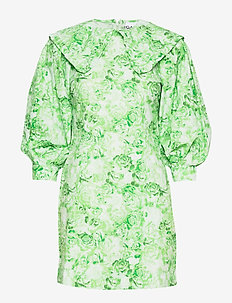 Printed Cotton Poplin - short dresses - island green