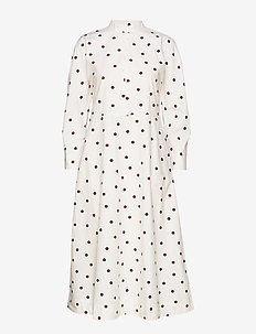 Printed Cotton Poplin - shirt dresses - egret