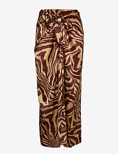 Silk Stretch Satin - maxi skirts - tannin