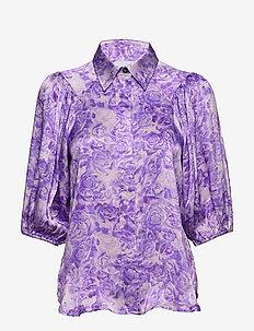 Heavy Satin - bluzki z długimi rękawami - violet tulip