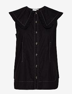 Cotton Poplin - bluzki bez rękawów - black