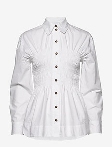 Cotton Poplin - langærmede skjorter - bright white