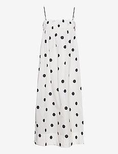 Recycled Polyester - sukienki do kolan i midi - egret