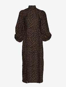 Printed Cotton Poplin - robes longues - toffee