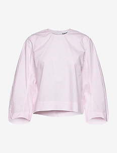 Printed Cotton Poplin - langærmede bluser - cherry blossom