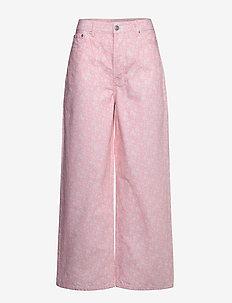 Print Denim - broeken met wijde pijpen - cherry blossom