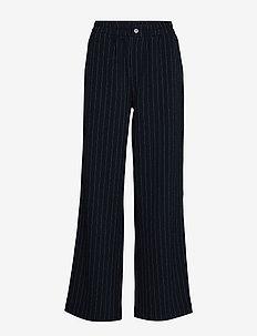 Heavy Crepe - bukser med brede ben - sky captain