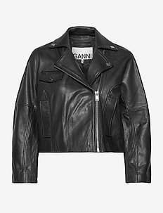 Light Grain Leather - skinnjakker - black