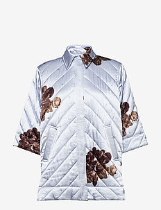 Heavy Satin - quilted jackets - heather