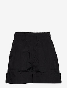 Crinkled Tech - casual szorty - black