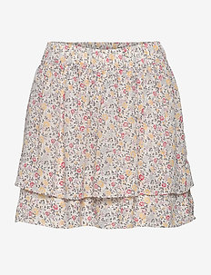 Printed Georgette - short skirts - egret