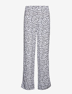 Printed Crepe - straight leg trousers - heather