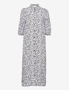 Printed Crepe - skjortklänningar - heather