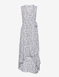 Printed Crepe - slå-om-kjoler - heather