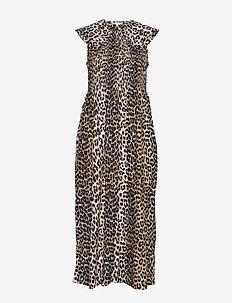 Cotton Silk - midi jurken - leopard