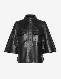 Lamb Leather - læderjakker - black