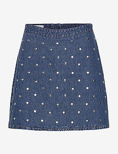 Stud Denim - denim skirts - denim