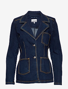 Light Stretch Denim - blazer - dark indigo