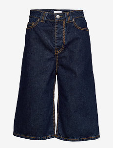 Heavy Stitch Denim - jeansowe szorty - dark indigo