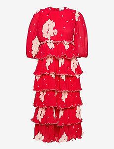 Pleated Georgette - maxi kjoler - lollipop