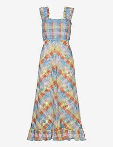 Seersucker Check - robes midi - multicolour