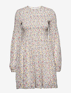 Printed Georgette - robes midi - egret
