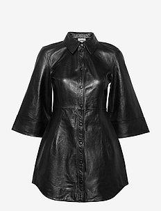 Lamb Leather - midi kjoler - black