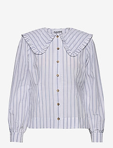 Feathery Cotton - long sleeved blouses - heather