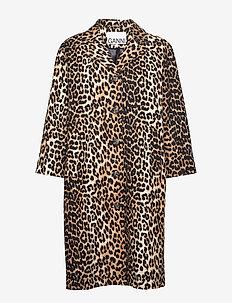Linen Canvas - lette frakker - leopard