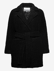 Boucle Wool - wool jackets - black