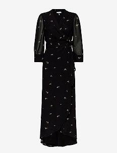 Printed Georgette - maksimekot - black