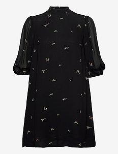 Printed Georgette - korte kjoler - black