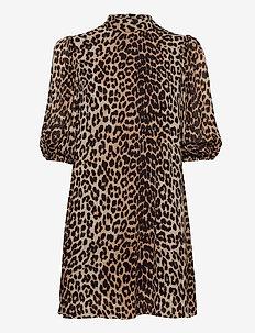 Printed Georgette - korte kjoler - leopard