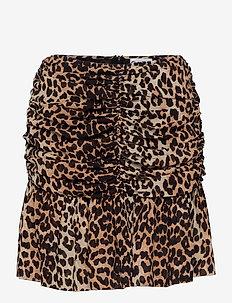 Printed Georgette - kurze röcke - leopard