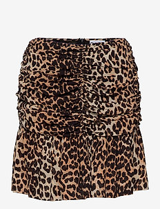 Printed Georgette - korte nederdele - leopard