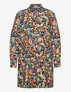 Printed Cotton Poplin - blousejurken - multicolour