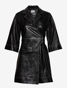 Lamb Leather - skjortekjoler - black
