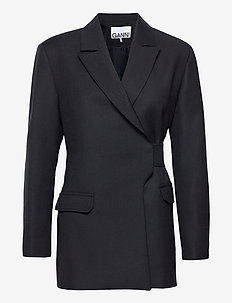 Wool Suiting - blazere - sky captain