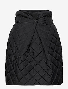 Recycled Ripstop Quilt - midinederdele - black