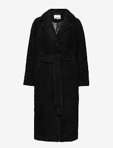 Boucle Wool - uldfrakker - black