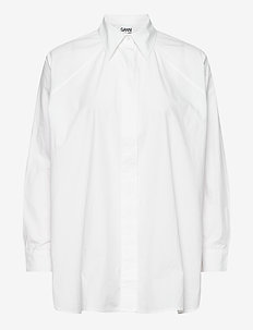 Long Shirt - langærmede skjorter - bright white